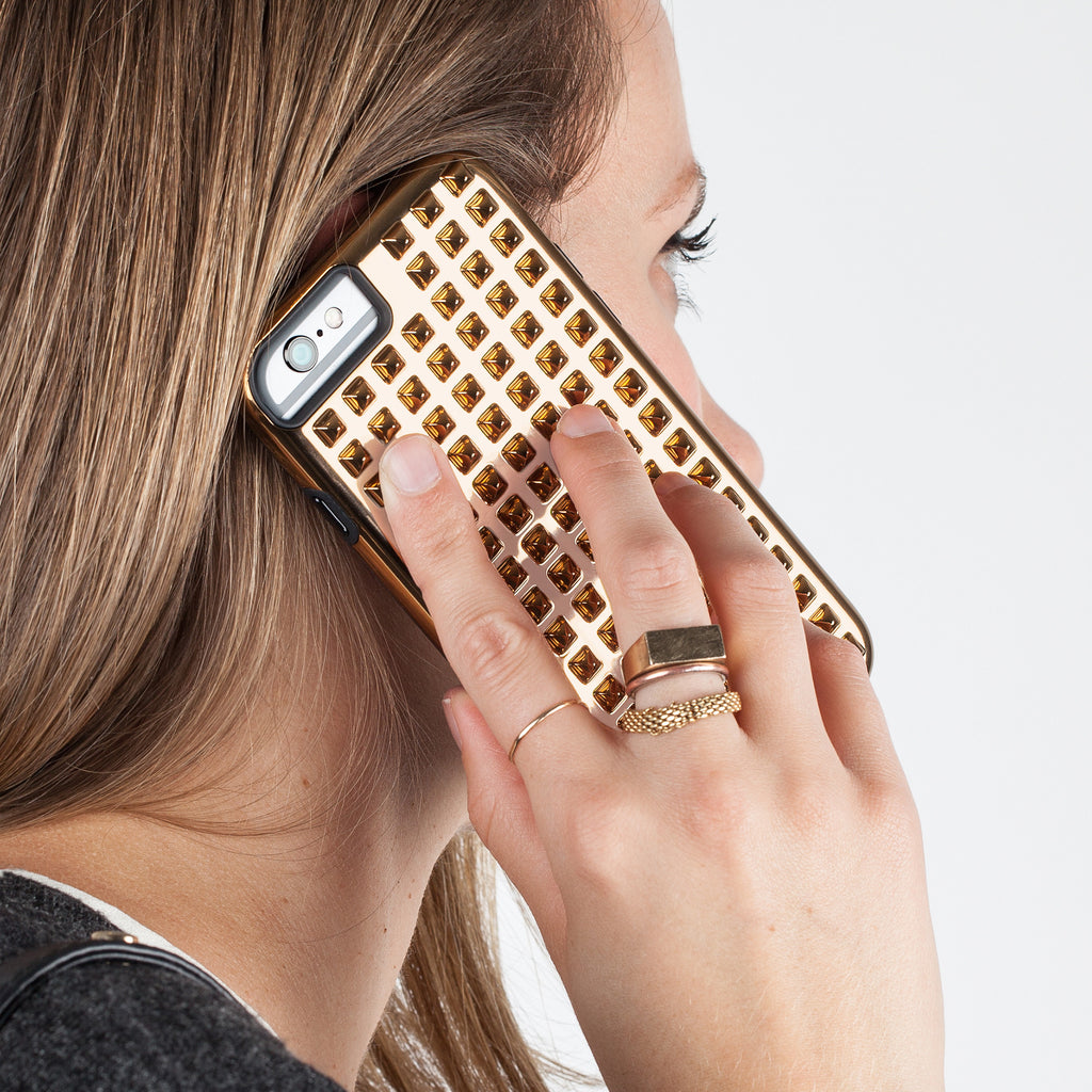 iPhone 6 Gold Studded Tough Case - lifestyle shot 3
