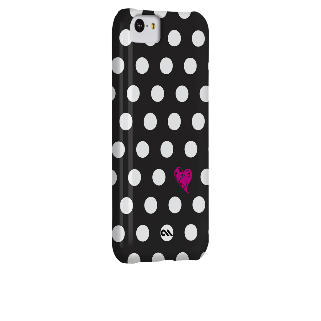 iPhone 5c Polka Love Print Barely There Case - image angle 1