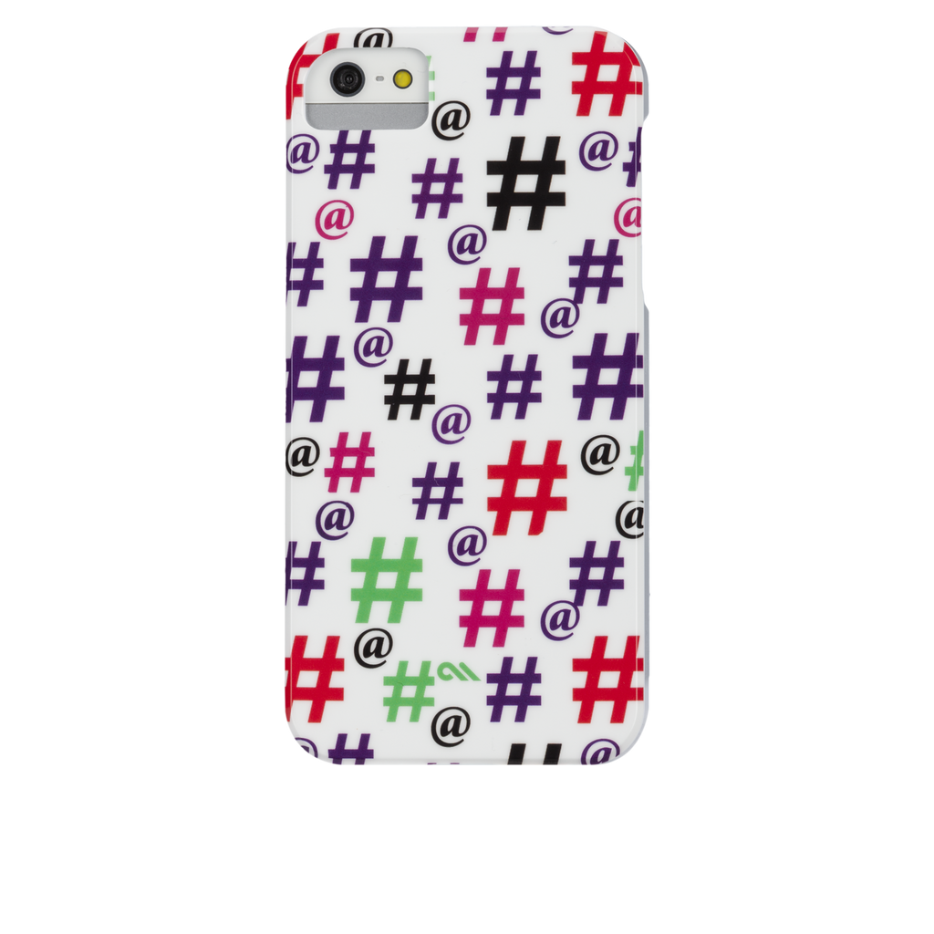 iPhone 5/5s Hash Tag Print Barely There Case - image angle 7