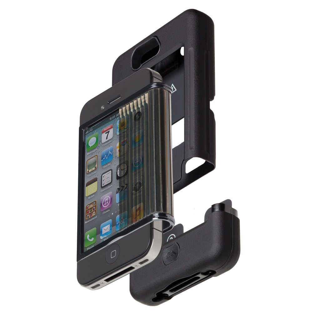 iPhone 4/4s Black Tank Case - image angle 9