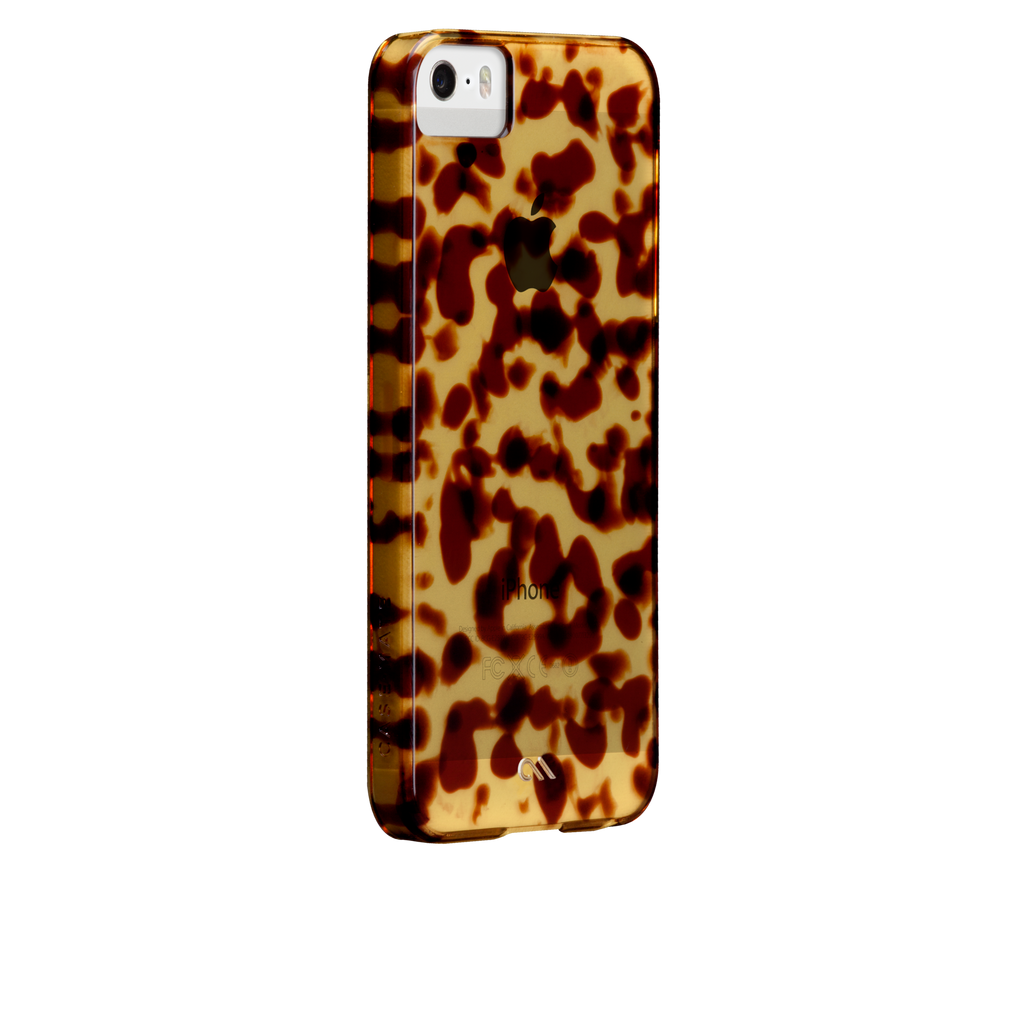 iPhone 5/5s Brown (Luxe) Tortoiseshell Case - image angle 1