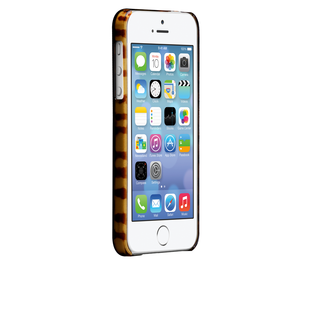 iPhone 5/5s Brown (Luxe) Tortoiseshell Case - image angle 2