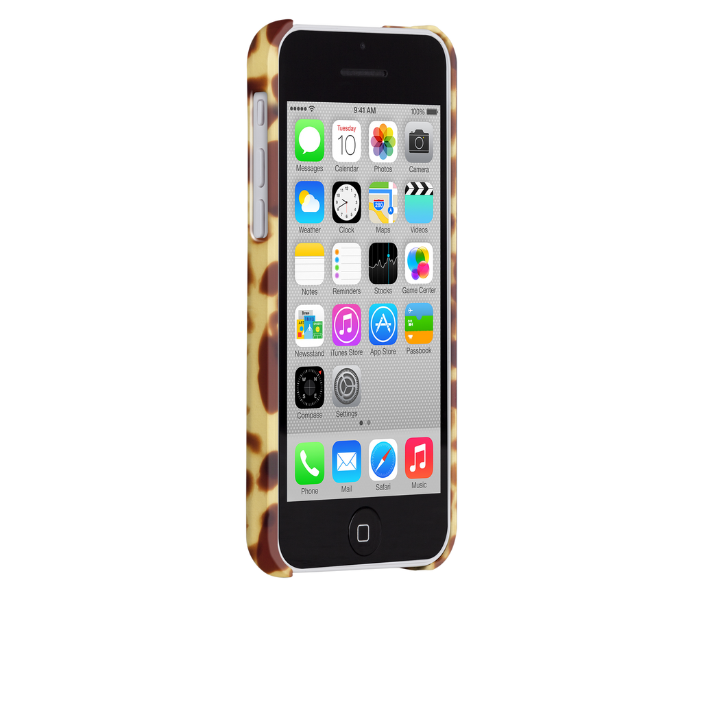 iPhone 5c Brown Tortoiseshell Case - image angle 2