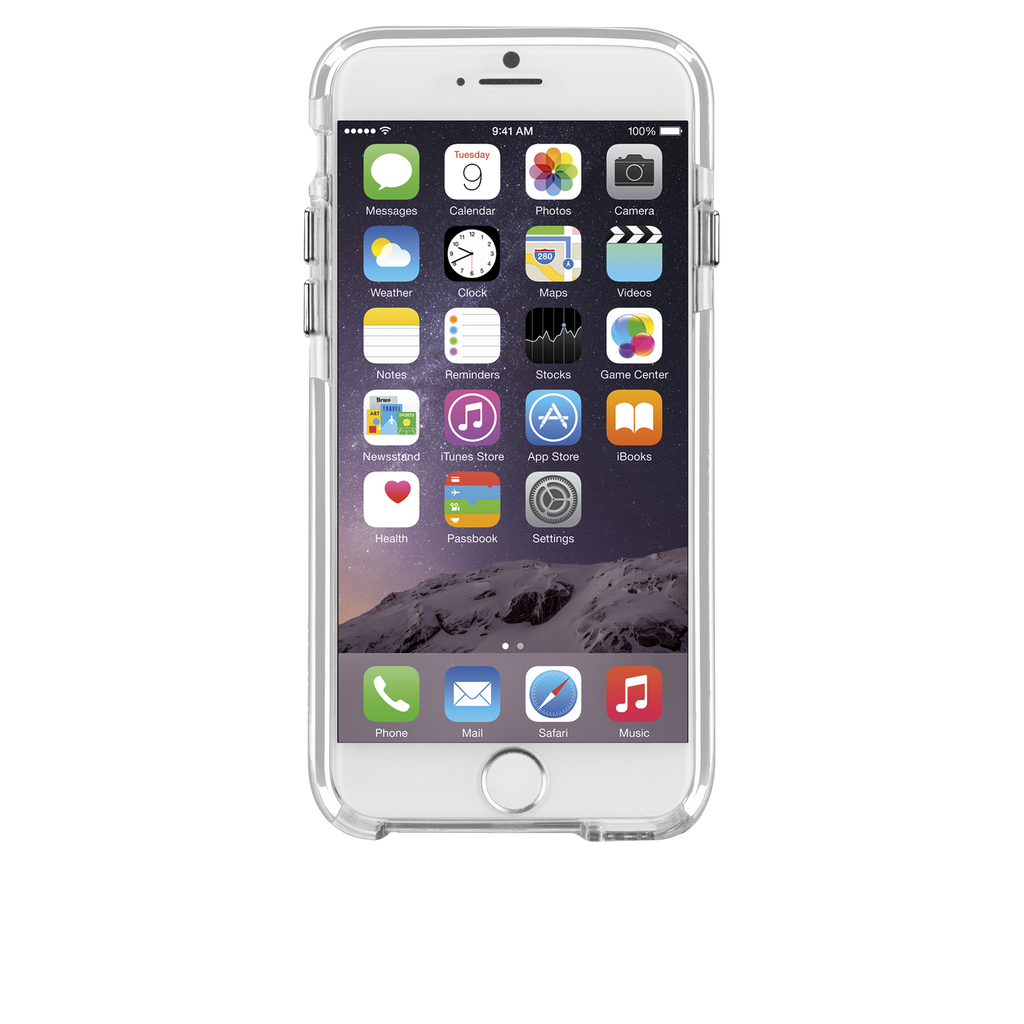 iPhone 6 Plus Clear & White Tough Air Case - image angle 6