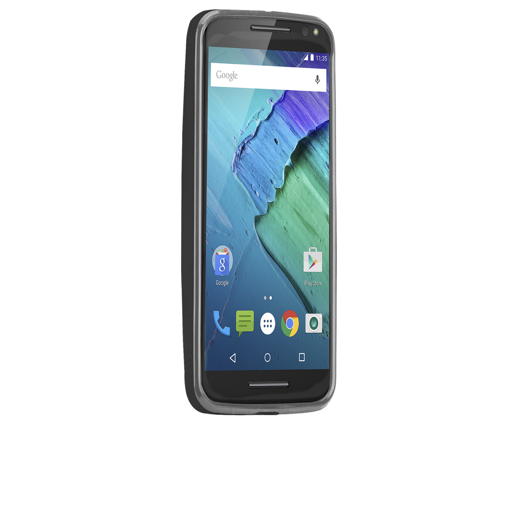 Moto X Pure Edition Black & Charcoal Tough Frame Case - image angle 2