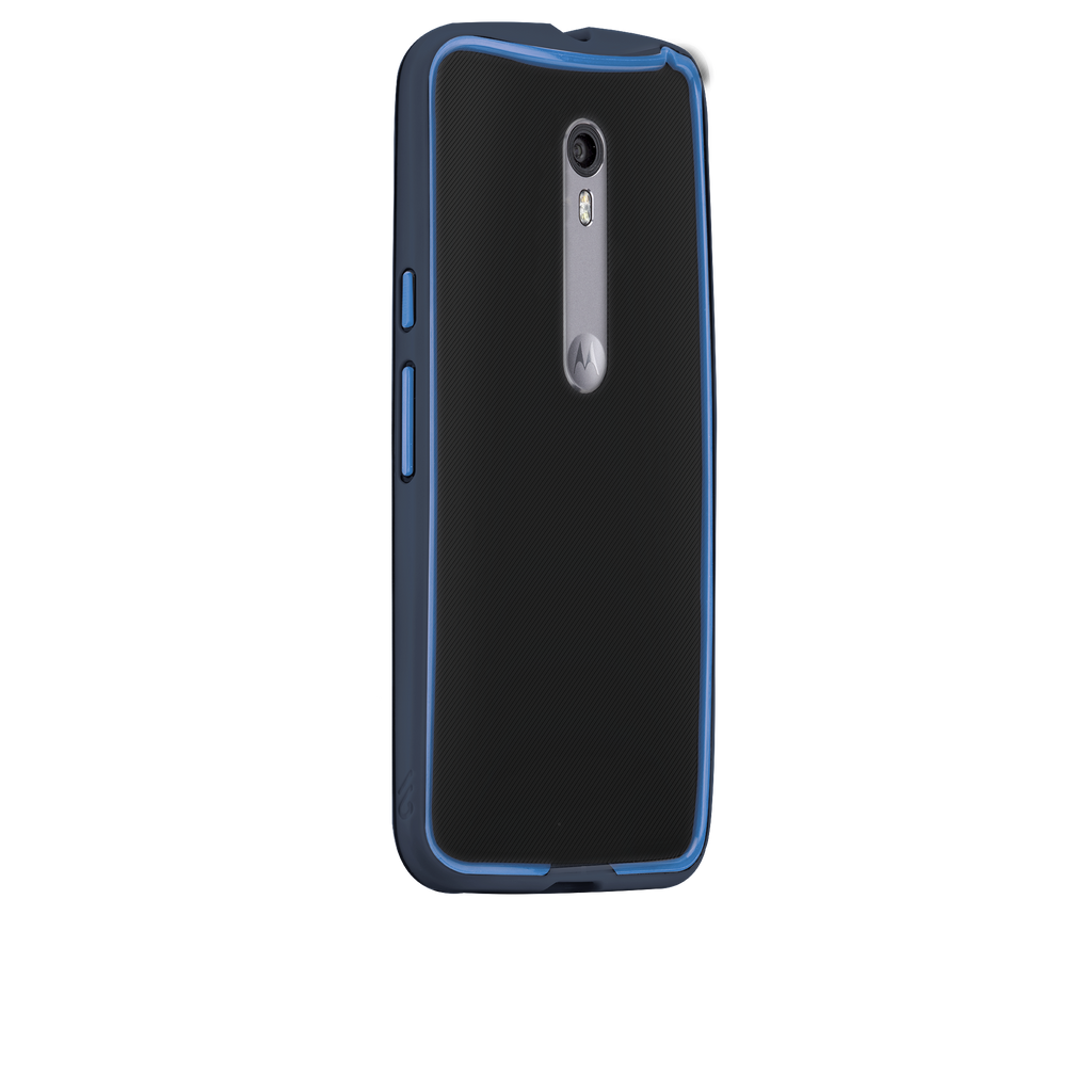 Moto X Pure Edition Navy & Blue Tough Frame Case - image angle 1