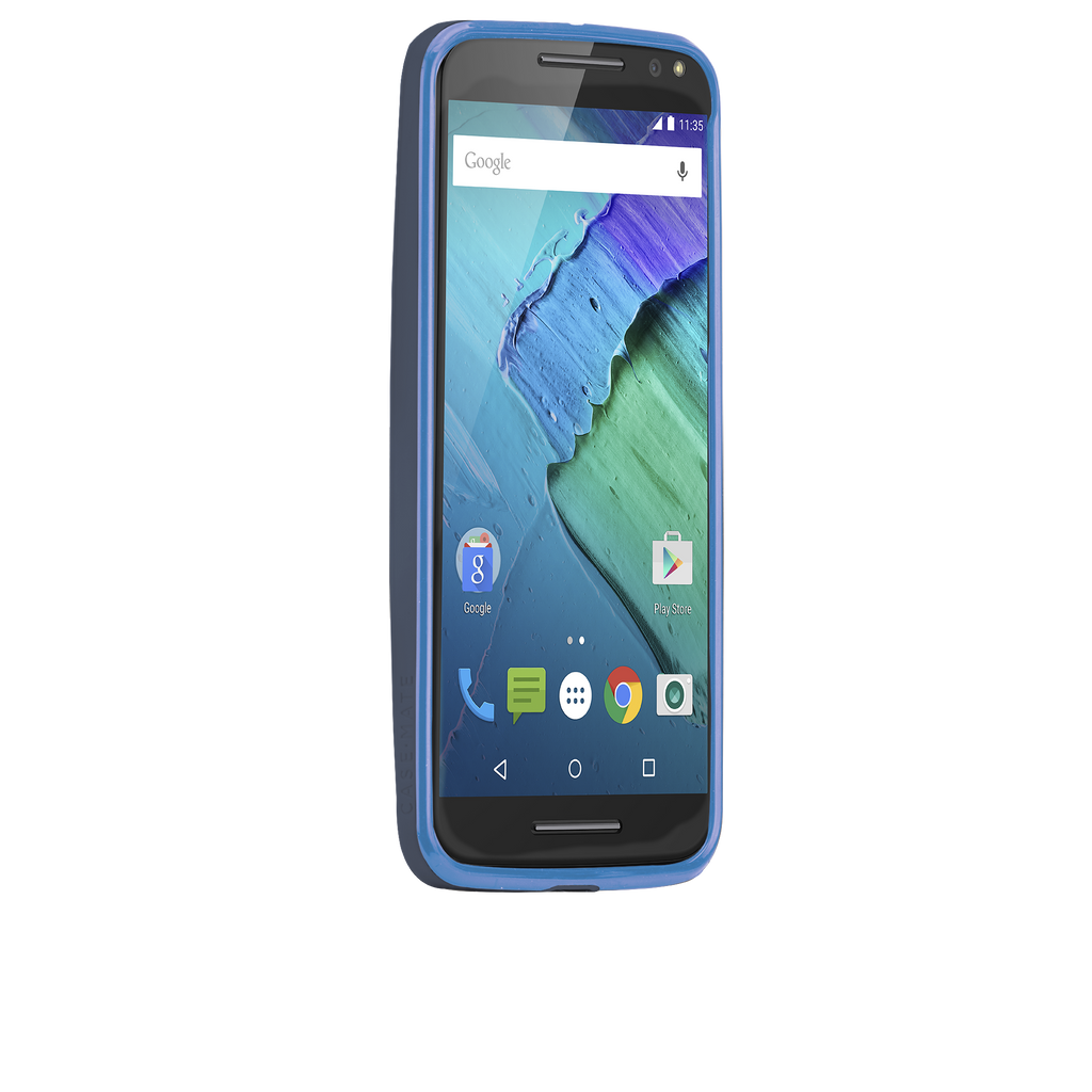 Moto X Pure Edition Navy & Blue Tough Frame Case - image angle 2