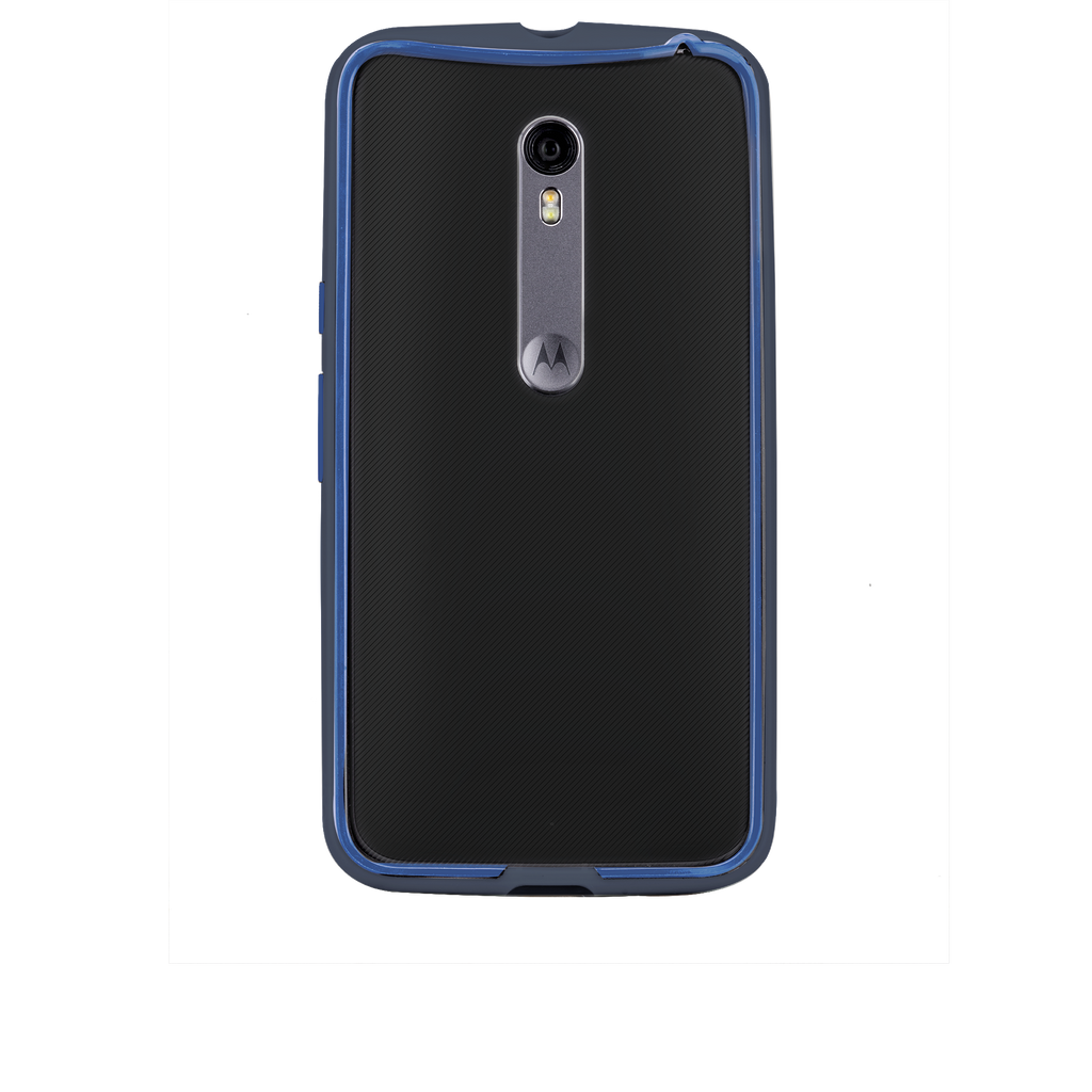 Moto X Pure Edition Navy & Blue Tough Frame Case - image angle 7