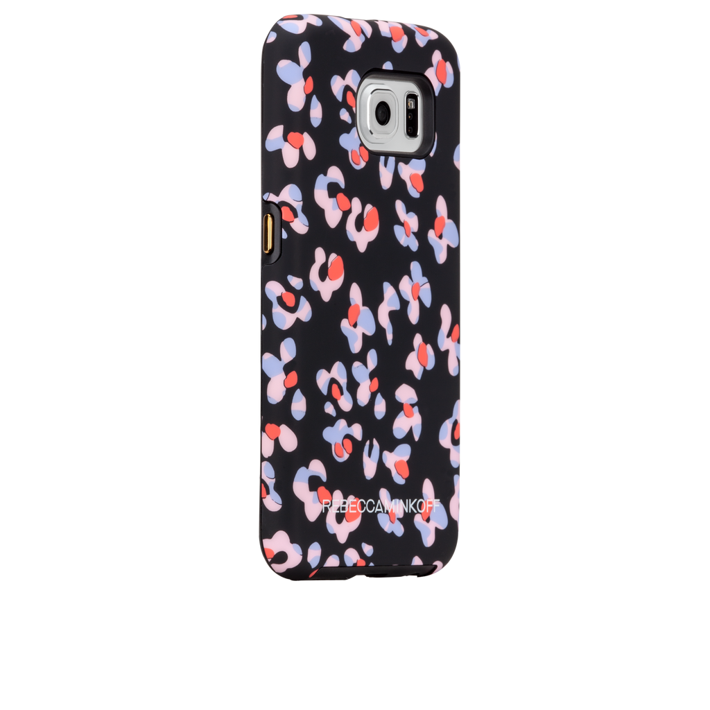 Samsung Galaxy S6 Black Leopard Floral Print CaseTough Print - image angle 1