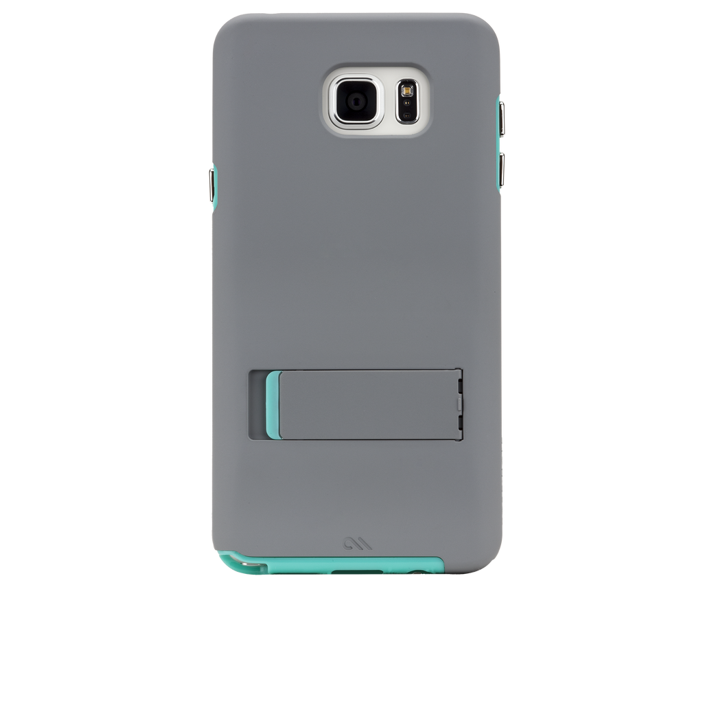 Samsung Galaxy Note 5 Titanium & Pool Green Tough Stand Case - image angle Titanium-Pool-Green_1