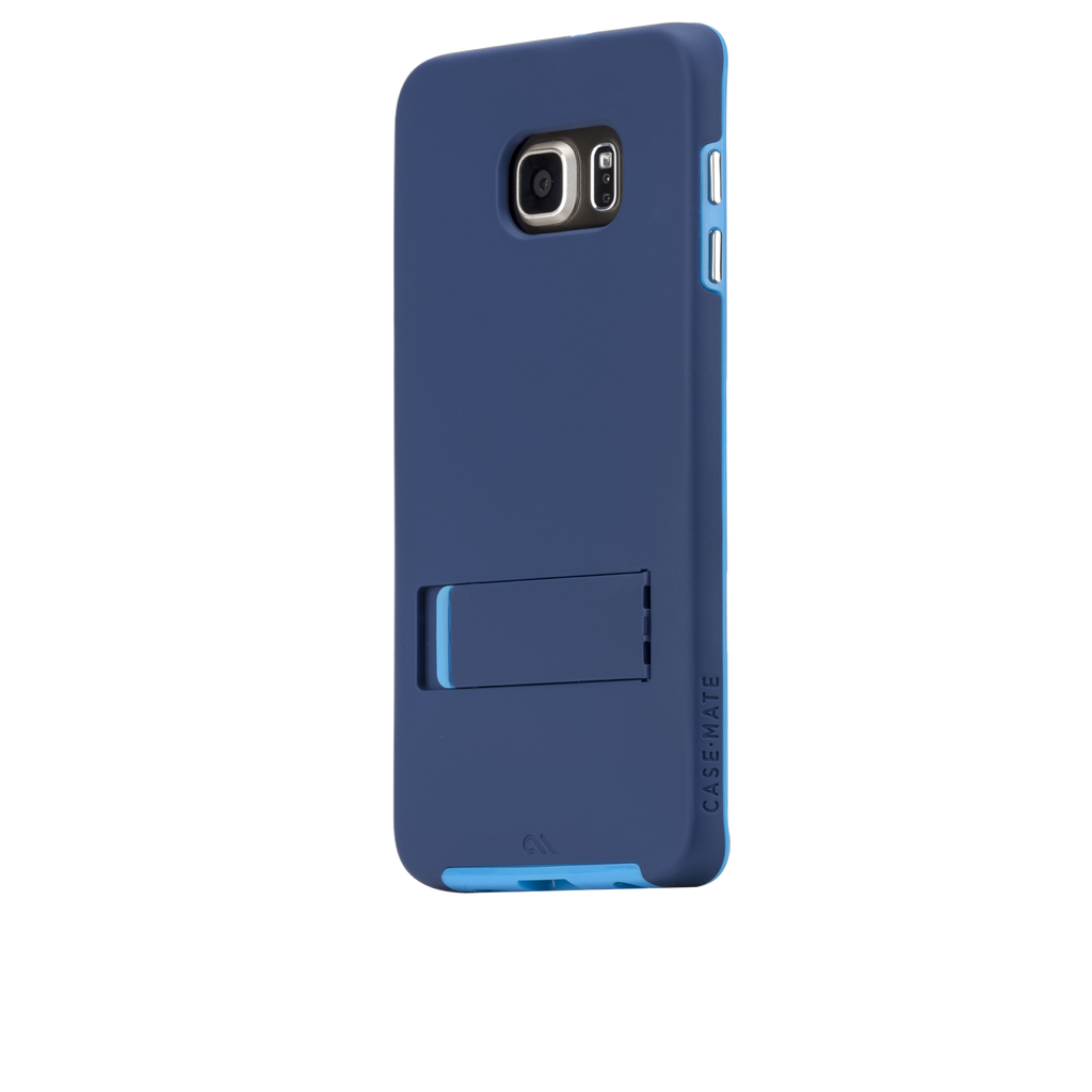 Samsung Galaxy S6 Edge+ Navy & Blue Tough Stand Case - image angle 3