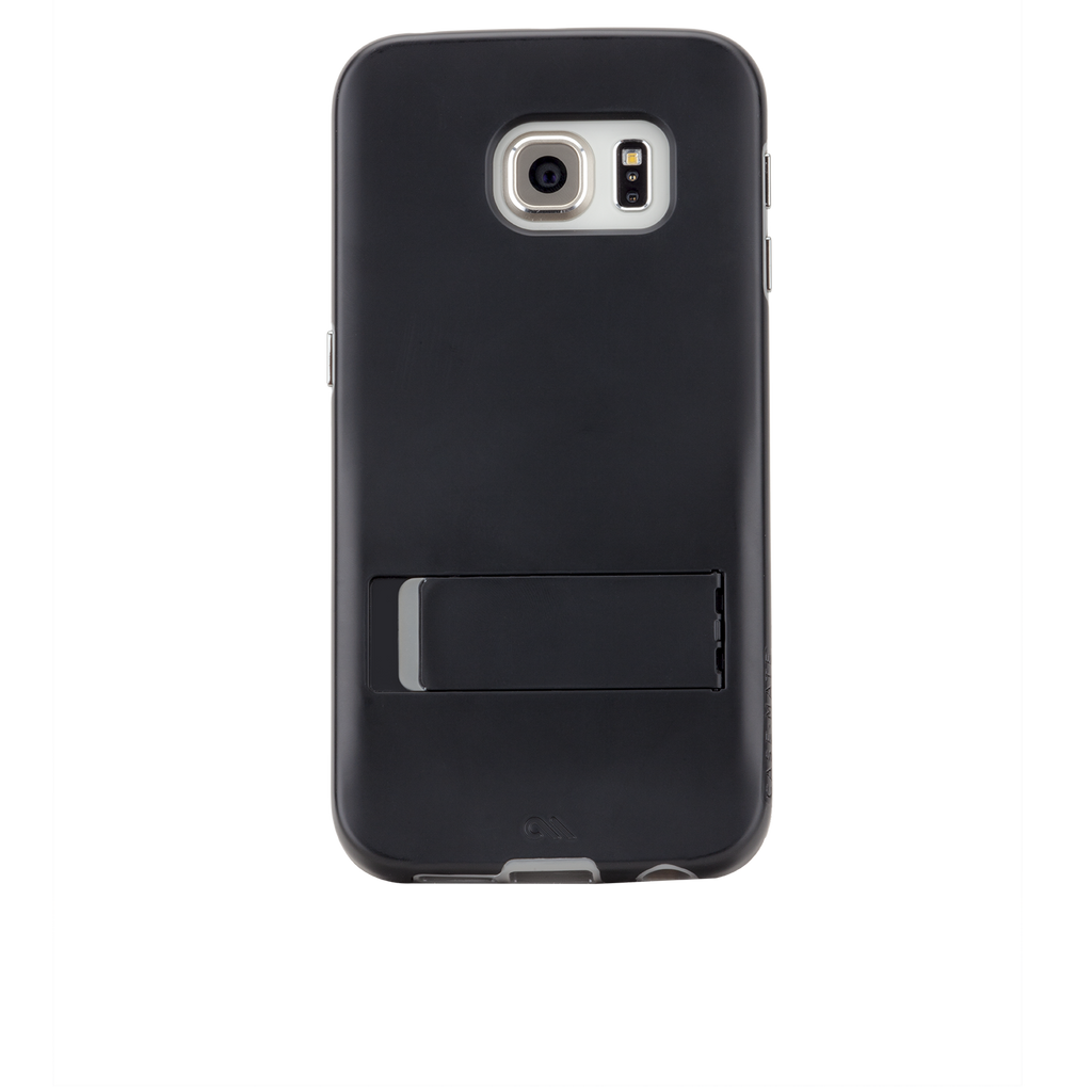 Samsung Galaxy S6 Edge Black & Titanium Tough Stand Case - image angle 7
