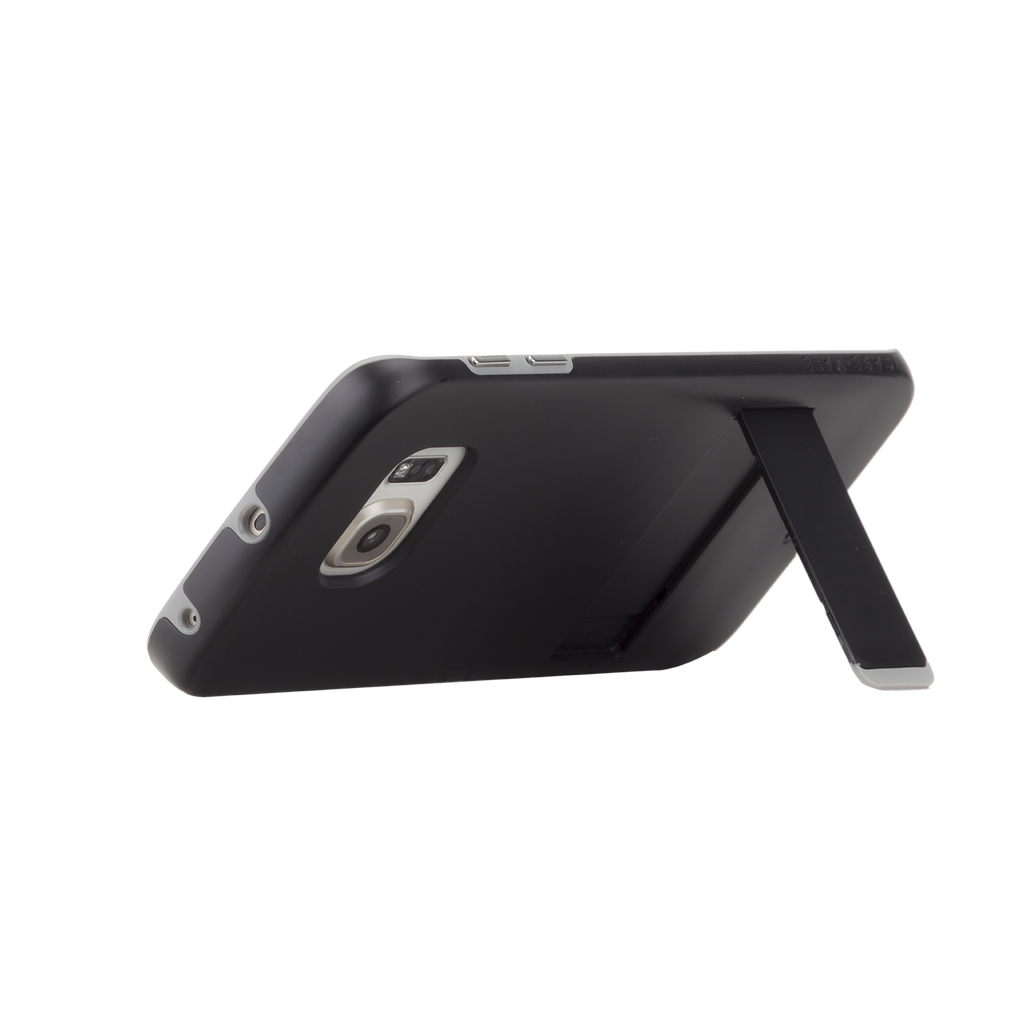 Samsung Galaxy S6 Edge Black & Titanium Tough Stand Case - image angle 9