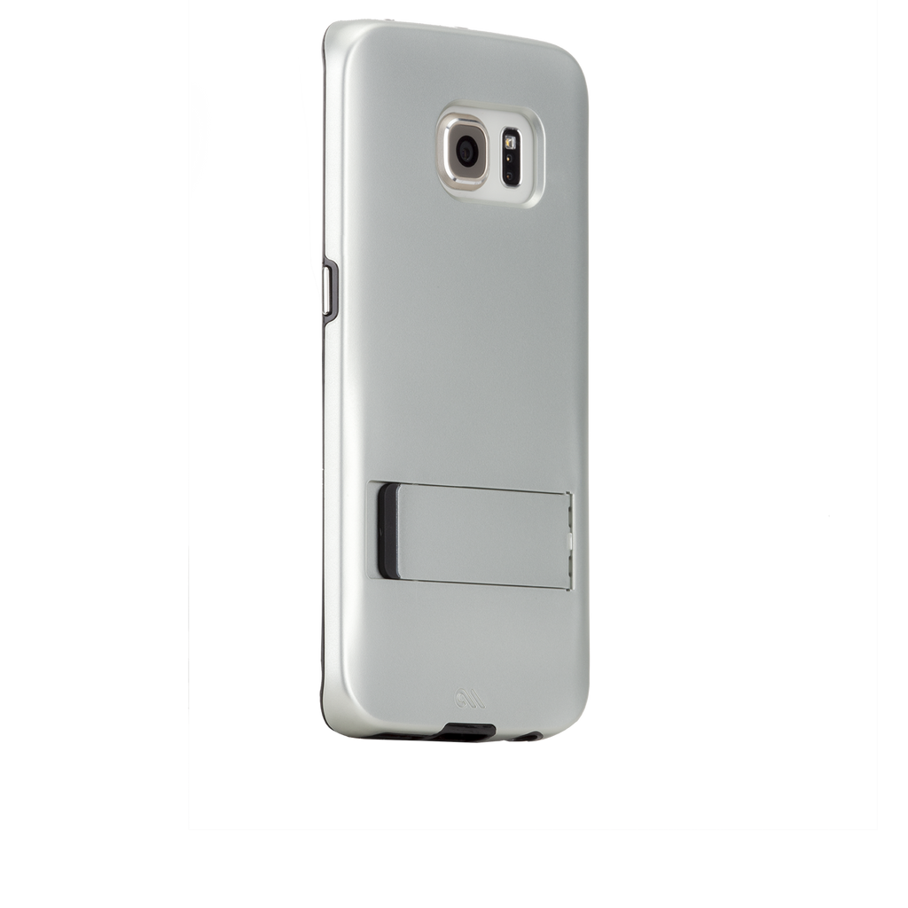 Samsung Galaxy S6 Edge Titanium & Black Tough Stand Case - image angle 1