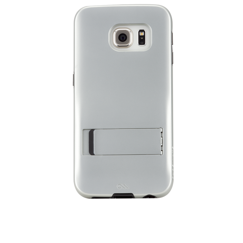 Samsung Galaxy S6 Edge Titanium & Black Tough Stand Case - image angle 7
