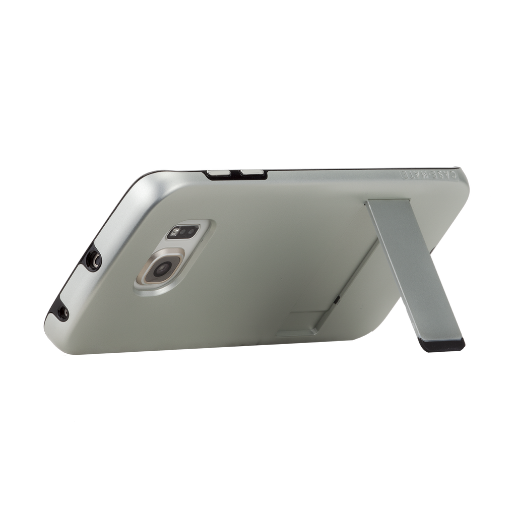 Samsung Galaxy S6 Edge Titanium & Black Tough Stand Case - image angle 9
