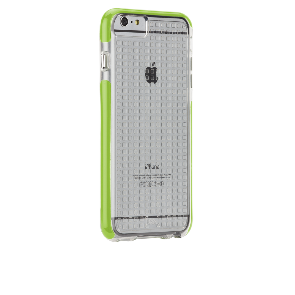 iPhone 6 Plus Clear & Lime Green Tough Air Case - image angle 1