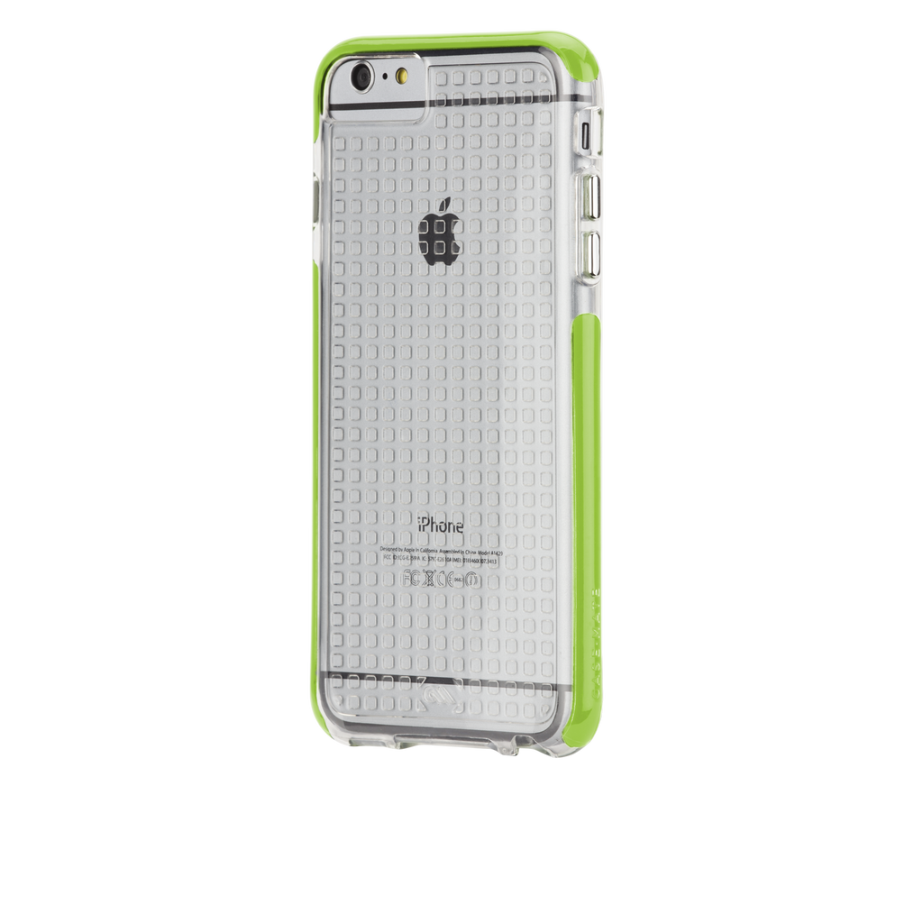 iPhone 6 Plus Clear & Lime Green Tough Air Case - image angle 3