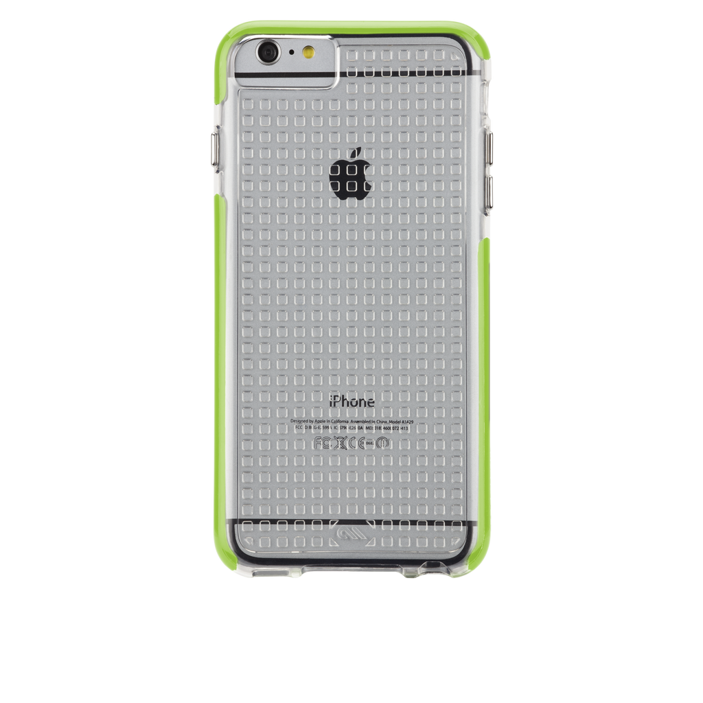 iPhone 6 Plus Clear & Lime Green Tough Air Case - image angle 7