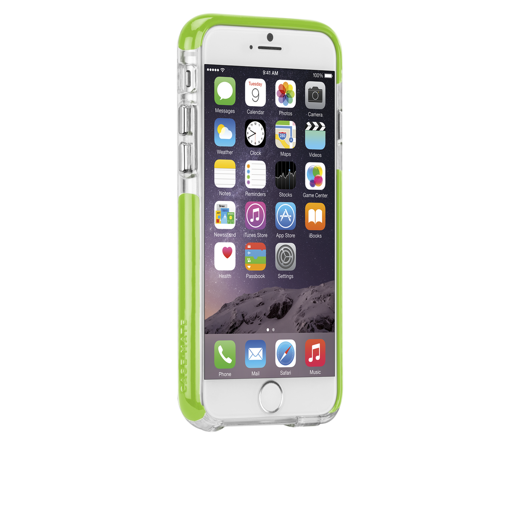 iPhone 6 Clear & Lime Green Tough Air Case - image angle 2