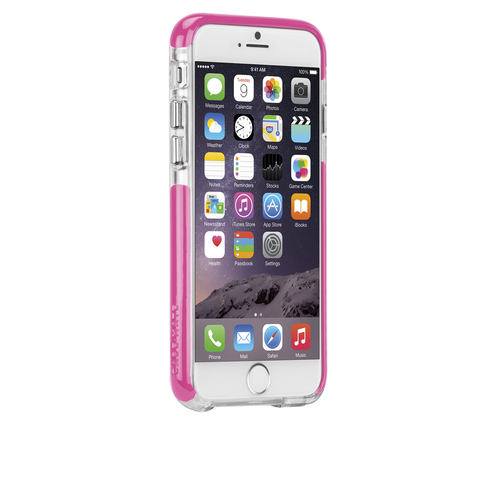iPhone 6 Clear & Pink Tough Air Case - image angle 2