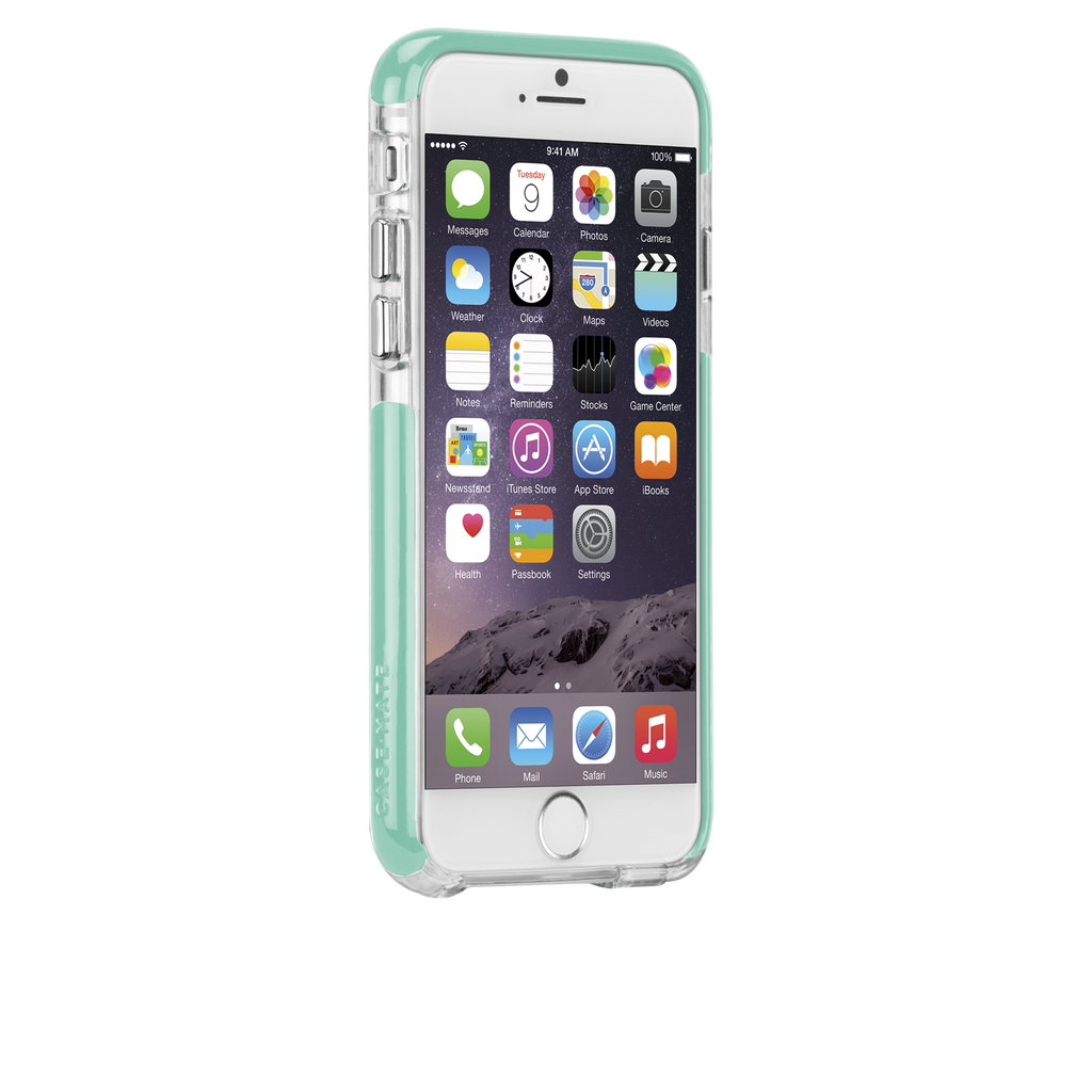 iPhone 6 Clear & Pool Blue Tough Air Case - image angle 2
