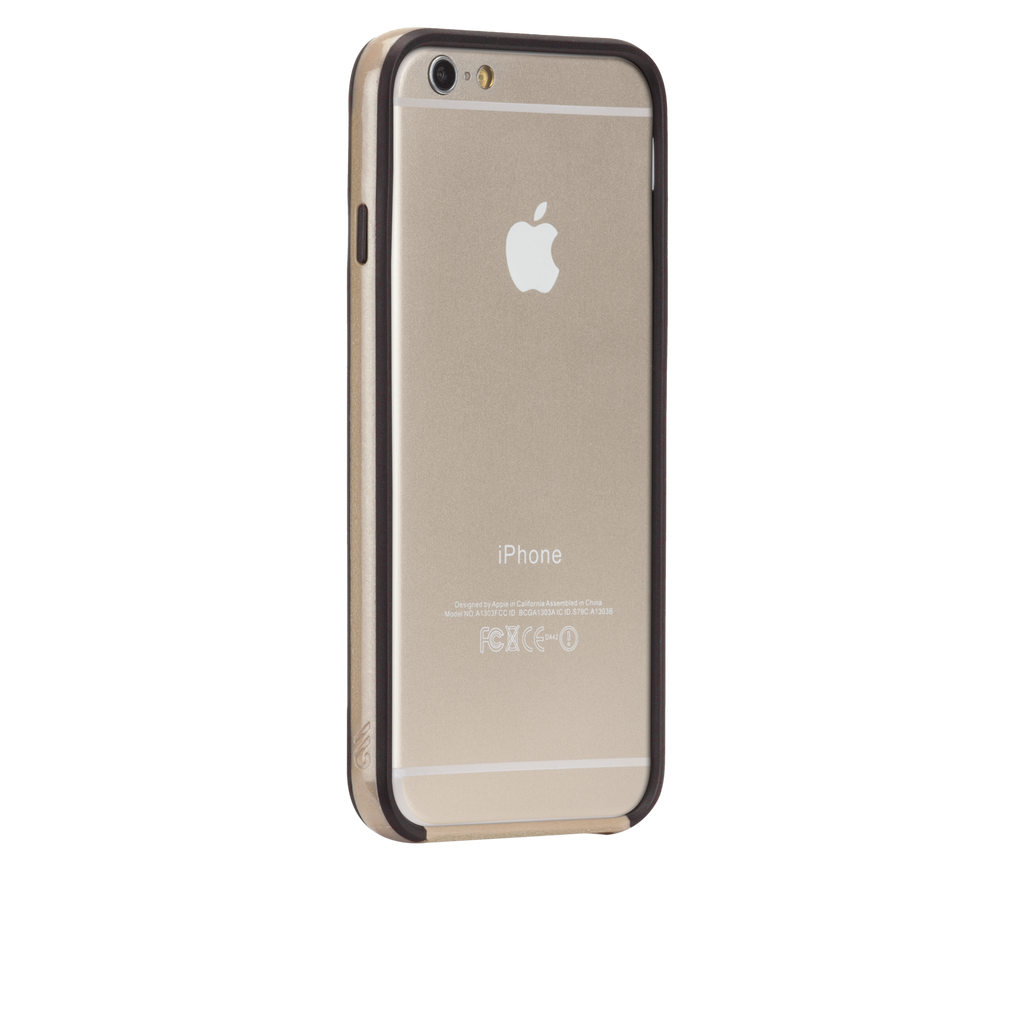 iPhone 6 Gold & Black Tough Frame Case - image angle 1