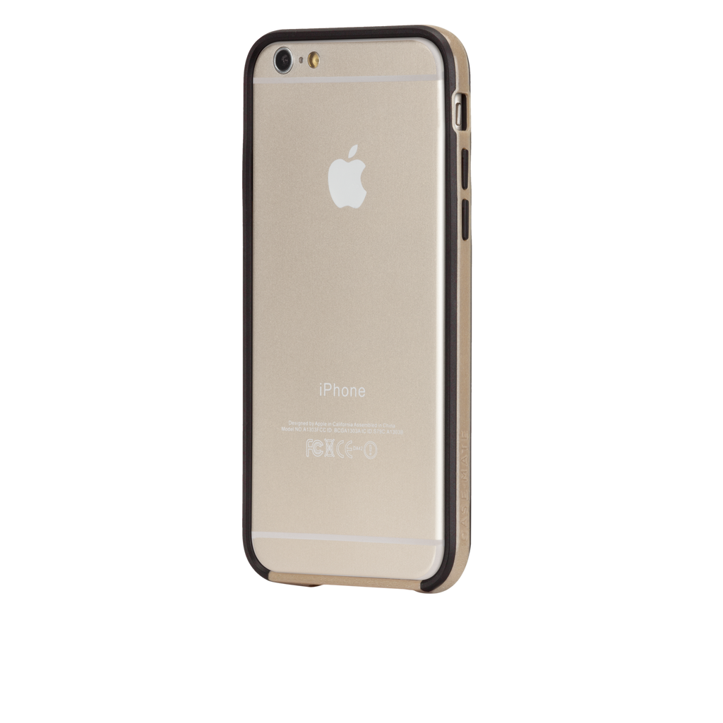 iPhone 6 Gold & Black Tough Frame Case - image angle 3