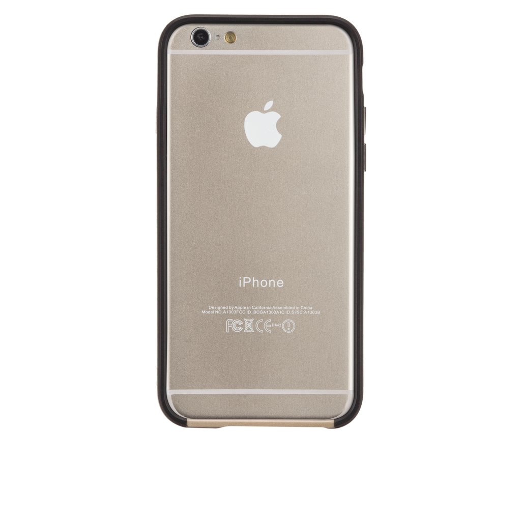 iPhone 6 Gold & Black Tough Frame Case - image angle 7