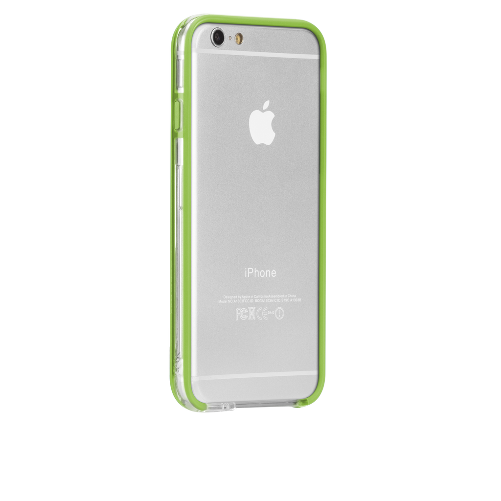 iPhone 6 Clear & Lime Green Tough Frame Case - image angle 1