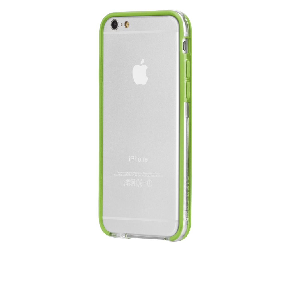 iPhone 6 Clear & Lime Green Tough Frame Case - image angle 3