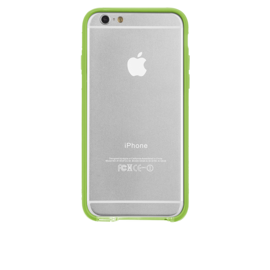 iPhone 6 Clear & Lime Green Tough Frame Case - image angle 7
