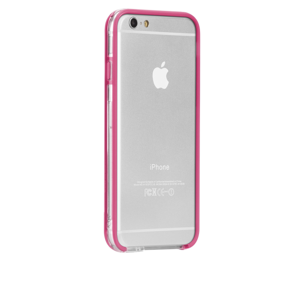 iPhone 6 Clear & Pink Tough Frame Case - image angle 1