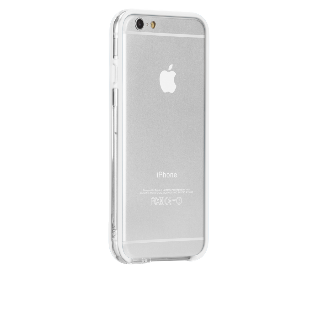 iPhone 6 Clear & White Tough Frame Case - image angle 1