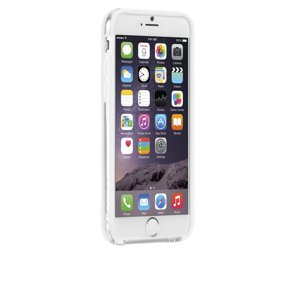 iPhone 6 Clear & White Tough Frame Case - image angle 2