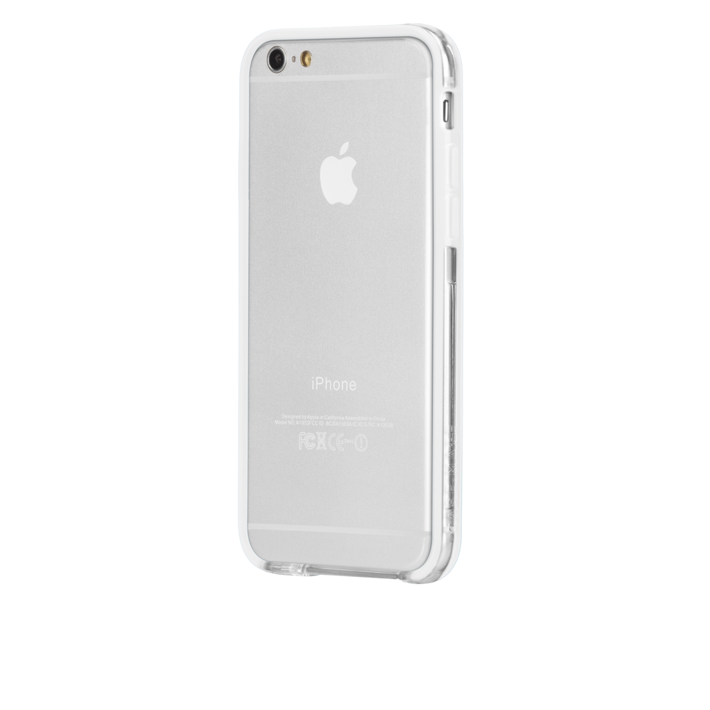 iPhone 6 Clear & White Tough Frame Case - image angle 3