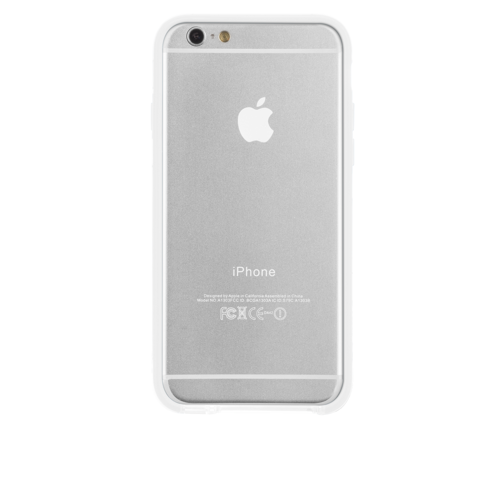 iPhone 6 Clear & White Tough Frame Case - image angle 7