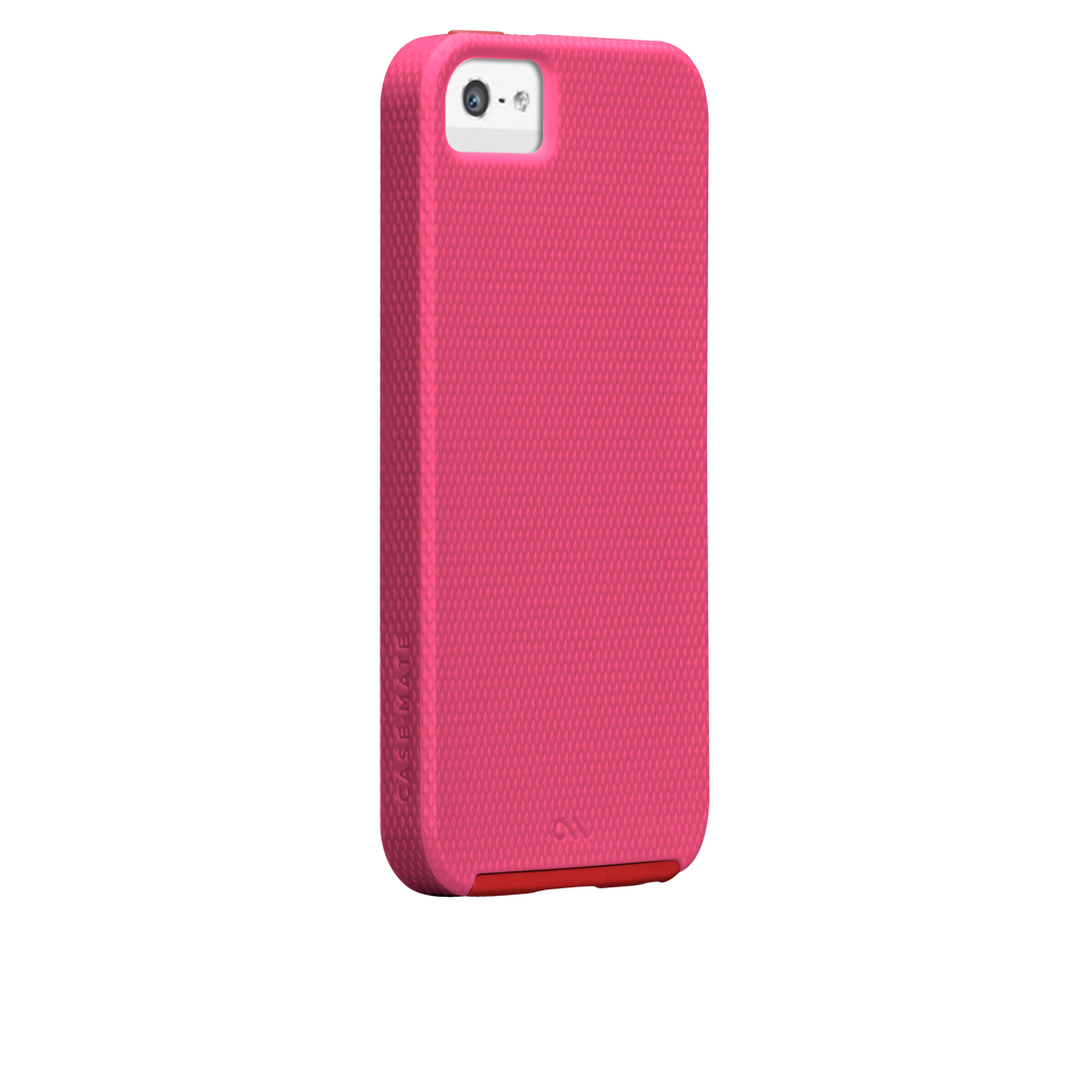 iPhone 5/5s Lipstick Pink & Flame Red Tough Case - image angle 1