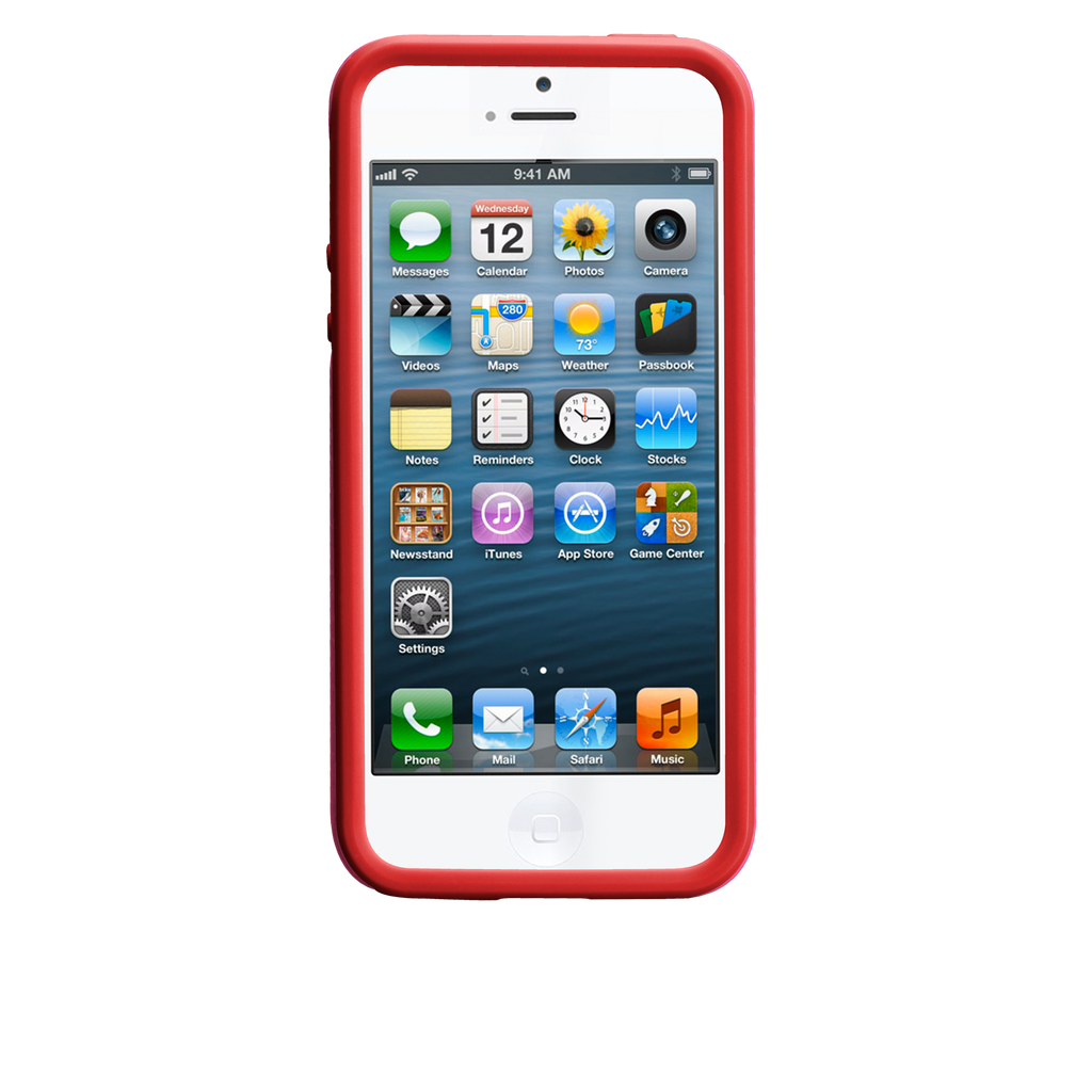 iPhone 5/5s Lipstick Pink & Flame Red Tough Case - image angle 6