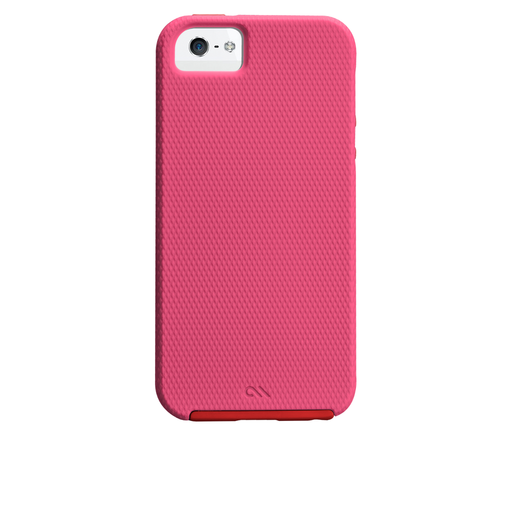 iPhone 5/5s Lipstick Pink & Flame Red Tough Case - image angle 7