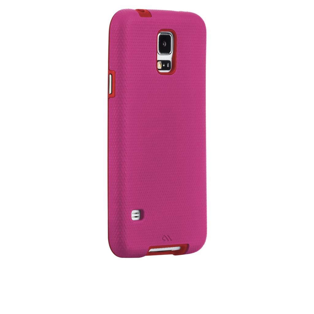Samsung GALAXY S5 Lipstick Pink & Flame Red Tough Case - image angle 1