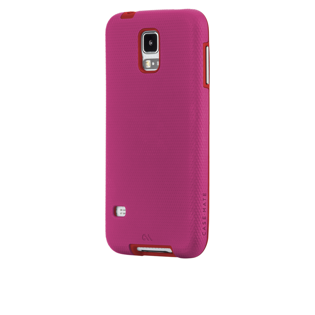 Samsung GALAXY S5 Lipstick Pink & Flame Red Tough Case - image angle 3
