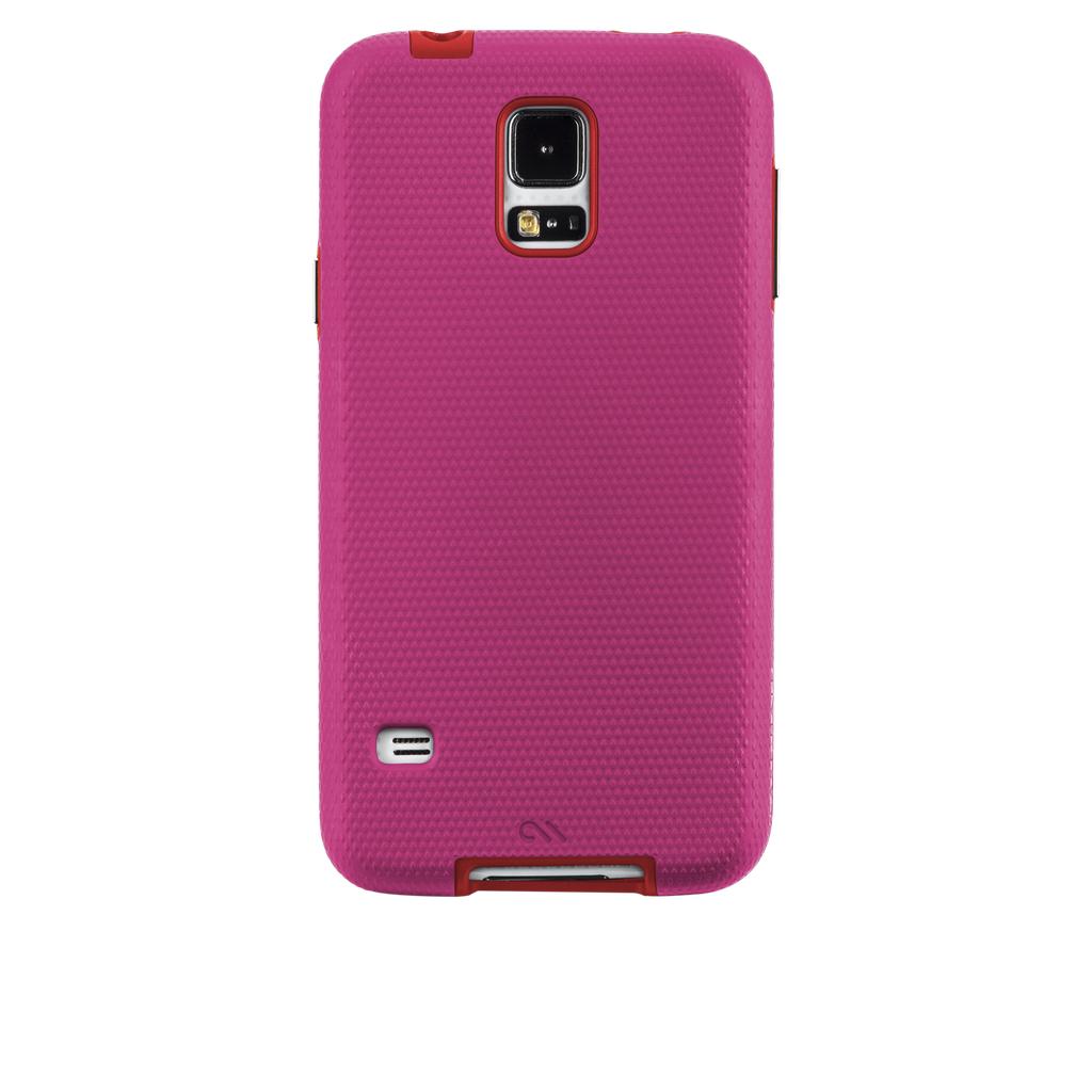 Samsung GALAXY S5 Lipstick Pink & Flame Red Tough Case - image angle 7