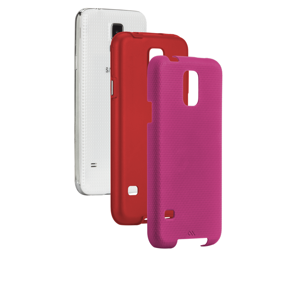 Samsung GALAXY S5 Lipstick Pink & Flame Red Tough Case - image angle 8