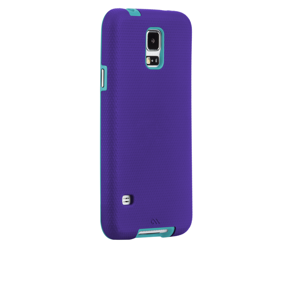 Samsung GALAXY S5 Purple & Pool Blue Tough Case - image angle 1