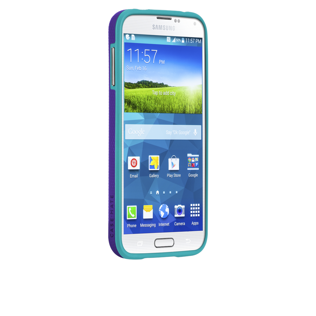 Samsung GALAXY S5 Purple & Pool Blue Tough Case - image angle 2