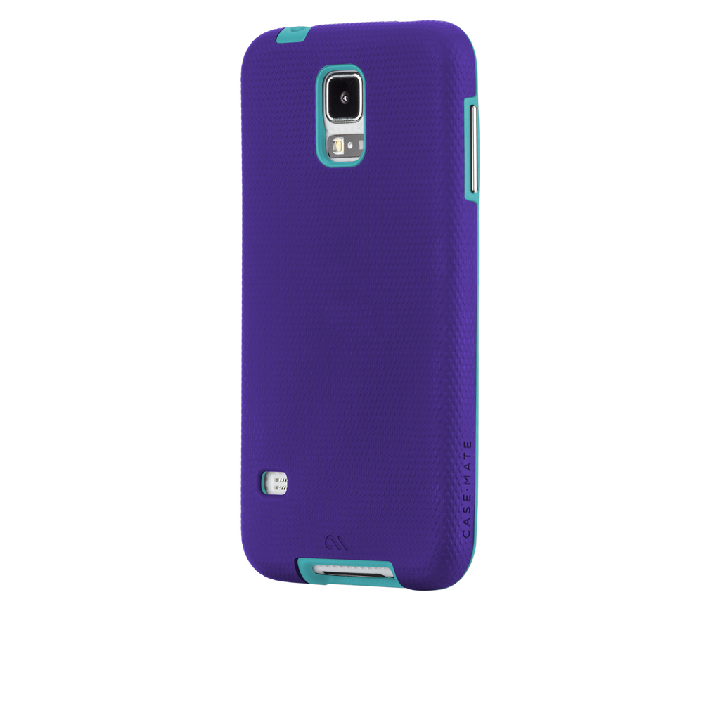 Samsung GALAXY S5 Purple & Pool Blue Tough Case - image angle 3