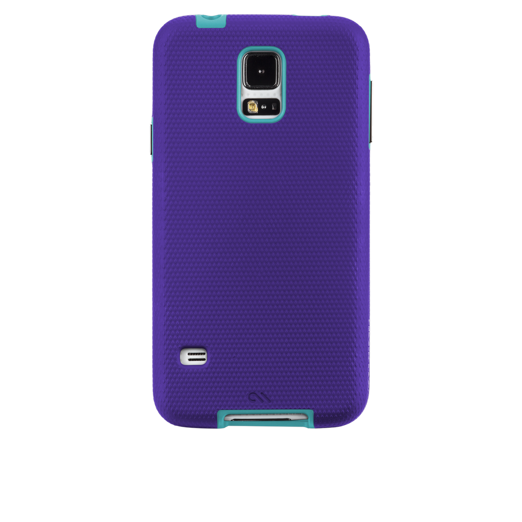 Samsung GALAXY S5 Purple & Pool Blue Tough Case - image angle 7