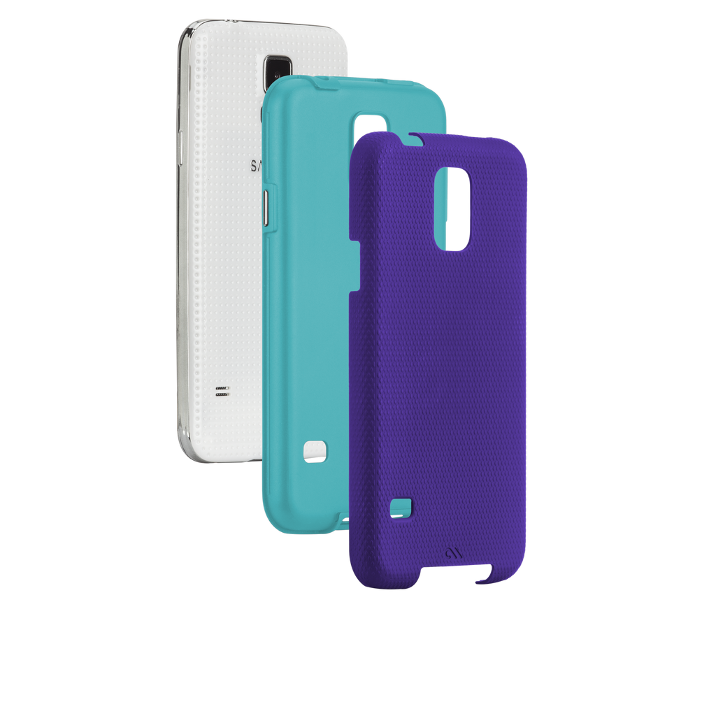 Samsung GALAXY S5 Purple & Pool Blue Tough Case - image angle 8