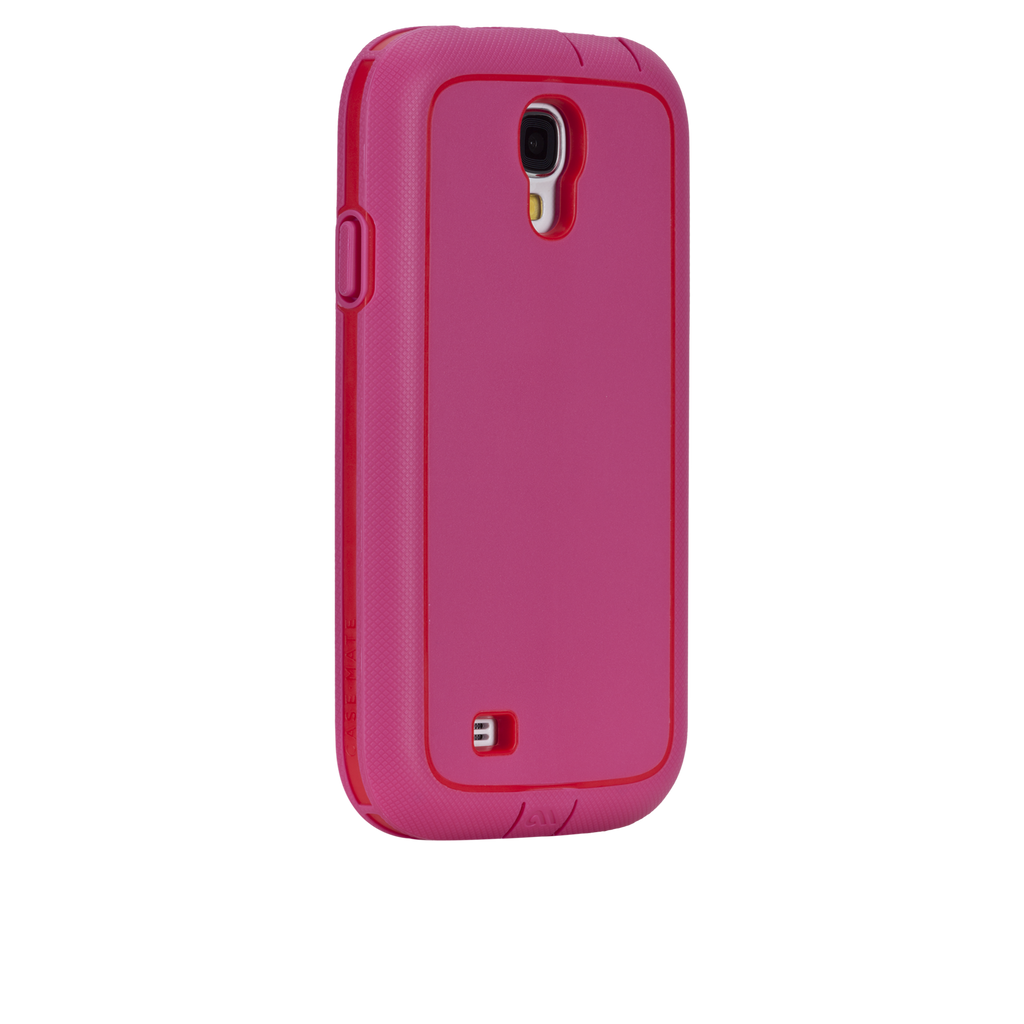Samsung GALAXY S4 Lipstick Pink & Flame Red Tough Xtreme Case - image angle _1